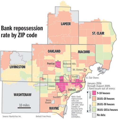 Bank Foreclosures by Zip Code